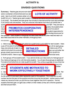 The Age of Exploration: Interdependent Divided Questions Activity