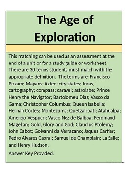 The Age of Exploration Matching