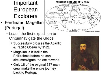 The Age of Exploration Powerpoint: Causes and Important Voyages