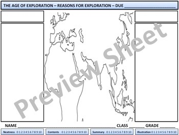 The Age of Exploration - Reasons for Exploration Homework
