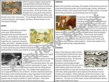 The Columbian Exchange - Homework