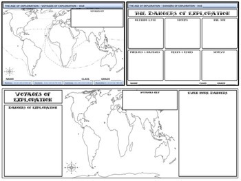 The Age of Exploration - Voyages of Exploration Homework