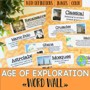 Age of Exploration Word Wall