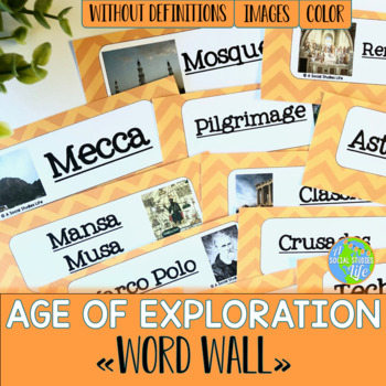Age of Exploration Word Wall without definitions
