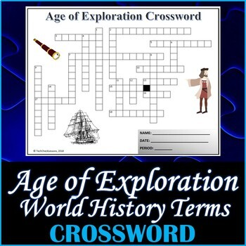 The Age of Exploration World History Vocabulary Quiz and Word List