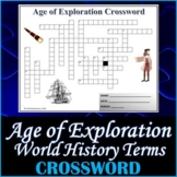 The Age of Exploration World History Crossword Puzzle Activity Worksheet