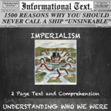 The Age of Imperialism--Informational Text Worksheet