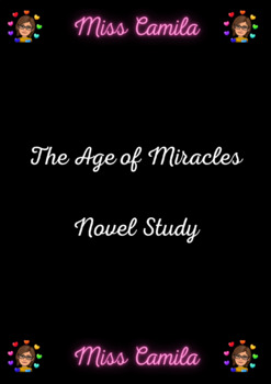 The Age of Miracles Novel Study