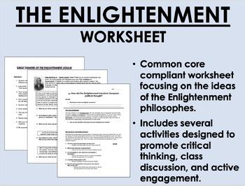 The Enlightenment worksheet