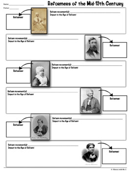 Age of Reform Unit: 20 activities to teach America's Antebellum reformers!