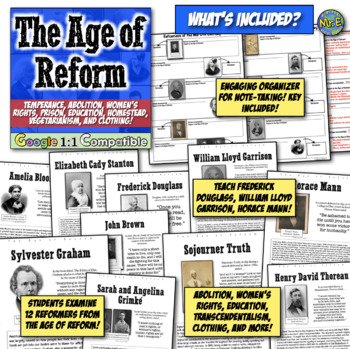Age of Reform Unit: 20 activities to teach Antebellum reformers | Google Ready