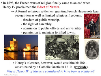 The Age of Religious Wars - 9 Day Unit - PowerPoint & Activities