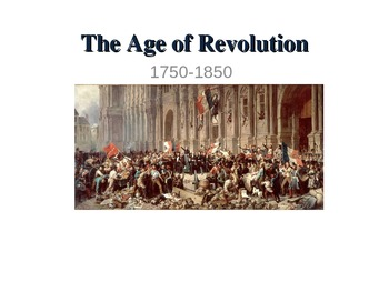 The Age of Revolutions Guided Notes