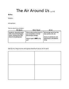The Air Around Us graphic Organizer
