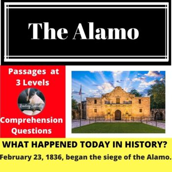 The Alamo Differentiated Reading Passage Feb 23