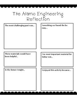 The Alamo Engineering STEM Project Activity Printable