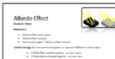 The Albedo Effect