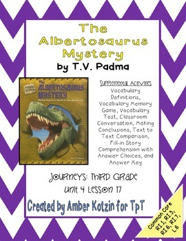 The Albertosaurus Mystery Activities 3rd Grade Journeys Un