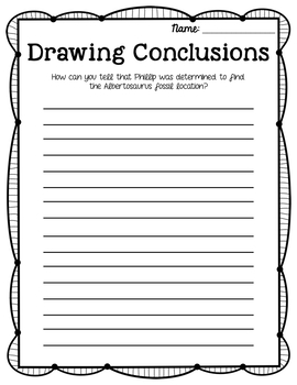 The Albertosaurus Mystery Drawing Conclusions Journey's Grade 3