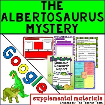 The Albertosaurus Mystery Journeys 3rd Grade Unit 4 Google Drive Resource