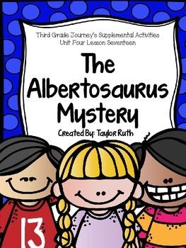 Third Grade Journey's Supplemental Activities:The Albertos