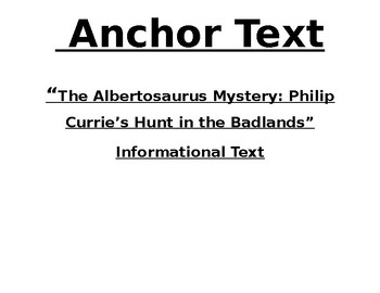 The Albertosaurus Mystery: Philip Currie's Hunt in the Badlands - Focus Wall