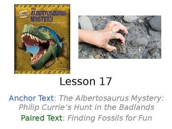 The Albertosaurus Mystery PowerPoint Weekly Activities Journeys Grade 3