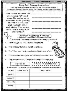 The Albertosaurus Mystery (Skill Practice Sheet)