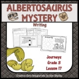 The Albertosaurus Mystery - Writing