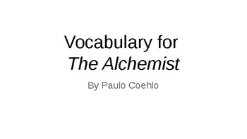 The Alchemist Vocabulary Powerpoint