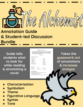 The Alchemist Annotation Guide and Student-led Discussion Bundle