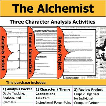 The Alchemist - Character Analysis Packet, Theme Connections, & Project
