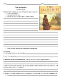 The Alchemist Unit Plan: Reading Guide and Chapter Comprehension Questions