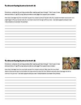 The Alchemist Reading Questions: using textual evidence
