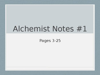 The Alchemist Review and Journal Pages 3-25