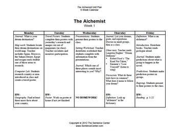 The Alchemist & The Hero's Journey: A 6-Week Unit Plan w/ Essay Project