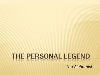 The Alchemist - The Personal Legend with Discussion Questions
