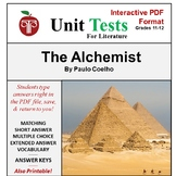 The Alchemist Unit Test Interactive PDF Format