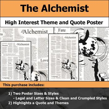 The Alchemist - Visual Theme and Quote Poster for Bulletin Boards