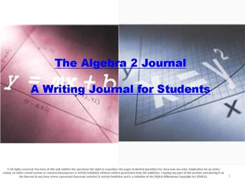 The Algebra 2 Journal