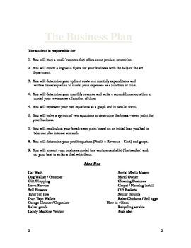 The Algebra of Business