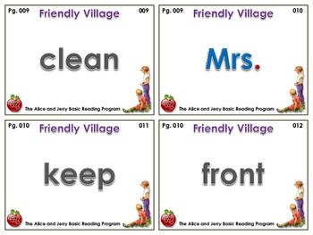 The Alice & Jerry Basic Reading Program - Friendly Village - Flashcards