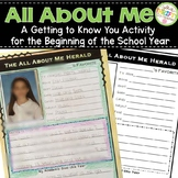 The All About Me Herald - Beginning of School Year Activity