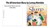 The All American Slurp - Story Analysis Activity