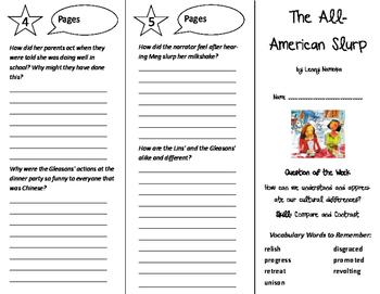 The All-American Slurp Trifold - Reading Street 6th Grade Unit 6 Week 3