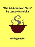 """""""The All-American Slurp"""" Writing Packet"""