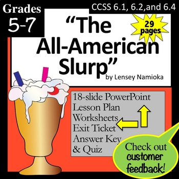 """""""The All American Slurp"""" Lesson, PowerPoint, and Worksheets"""