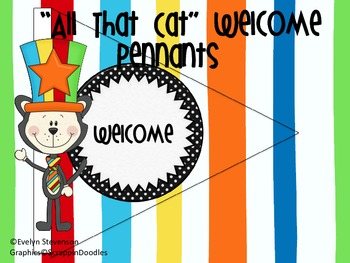 "The ""All That"" Cat Welcome Pennants"