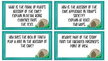The Allegory of the Cave - Task Cards