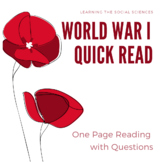 The Alliance System (WWI) Quick Read - 1 Page Reading with 3 Questions